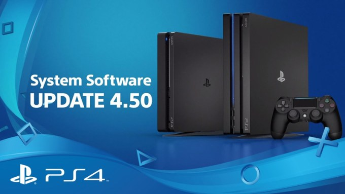SONY PS4 System Software Update 4.5 (9.3.2017)