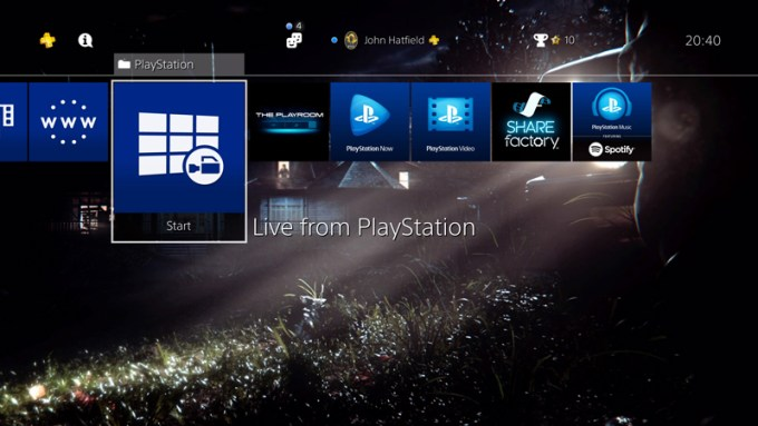 Spersonalizowane tapety na PS4