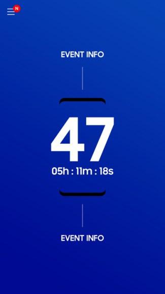 Screen aplikacji mobilnej UNPACKED 2017