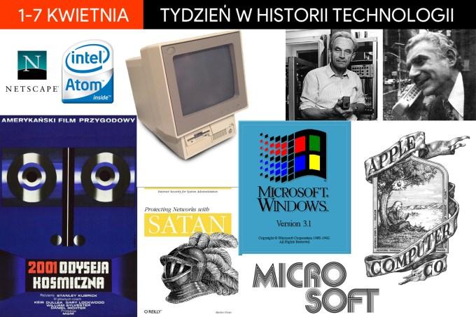 1-7 kwietnia - tydzień w historii technologii