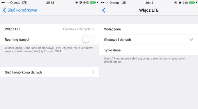 Jak włączyć VoLTE na iPhone'ie?