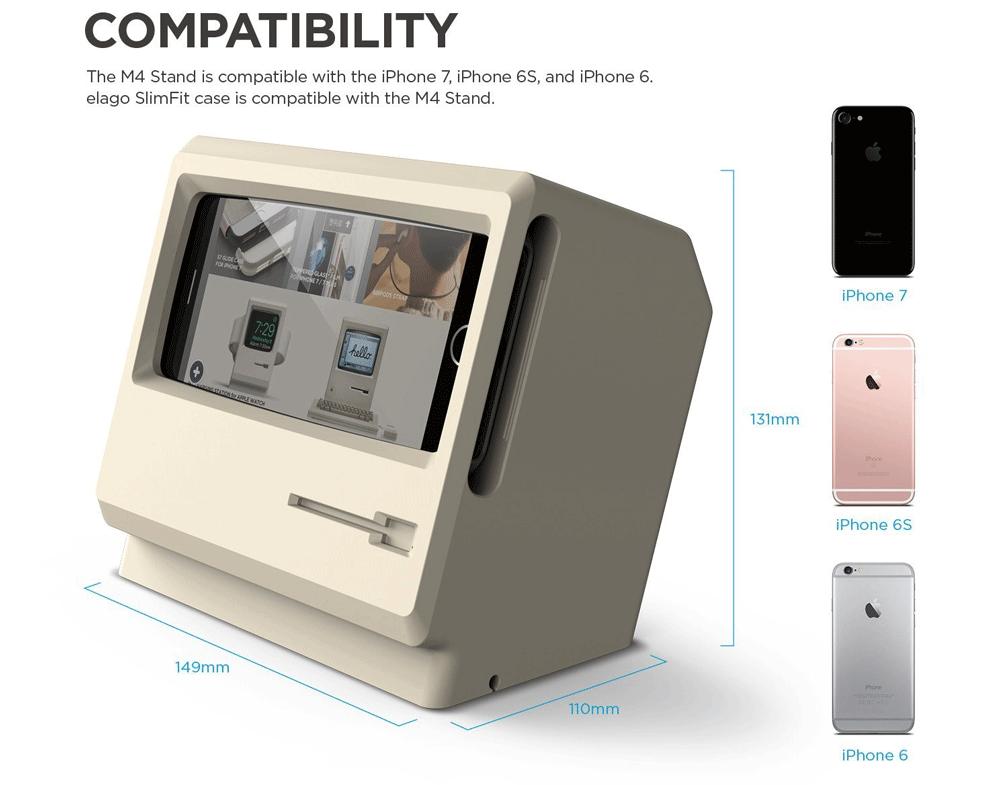 Kompatybilność stojaka M4 dla iPhone'a (6, 6s i 7)