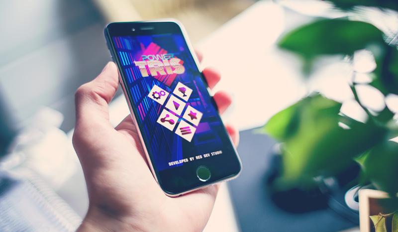 Logiczna gra mobilna - Powertris