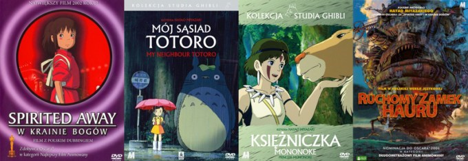 Okładki filmów Miyazakiego (Ghibli Studio)