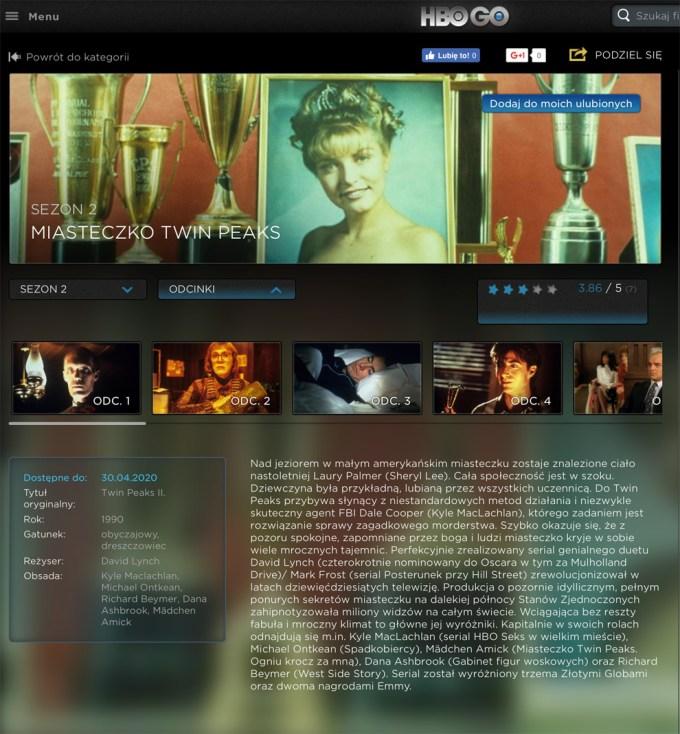 """""""Miasteczko Twin Peaks"""" sezon 2 w HBO GO"""
