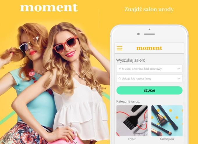 Rezerwacja wizyt online przez smartfona w aplikacji mobilnej Moment.pl