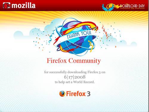 Firefox Download Day Firefox (17 czerwca 2008) - rekord Guinnessa