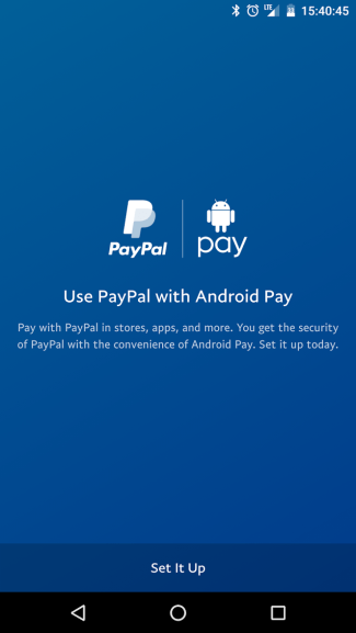 PayPal w aplikacji Android Pay