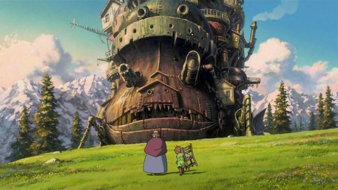 Ruchomy zamek Hauru - kadr z filmu Miyazakiego (Ghibli Studio)