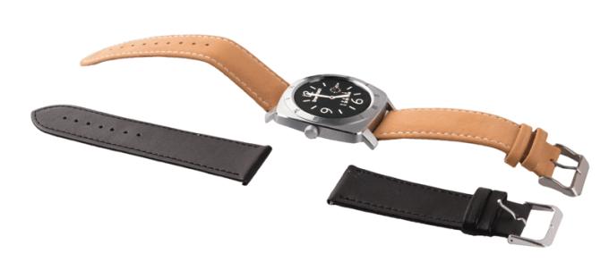 SmartGPS SMW01 - srebrny (pasek brązowy i czarny)