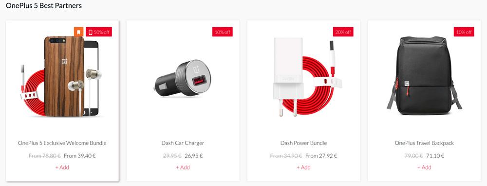 Zniżki na akcesoria dla OnePlus 5 od 10 do 50%