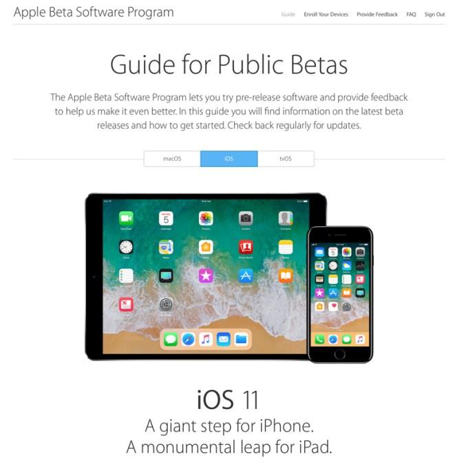 Guide for Public Betas - iOS 11 Apple