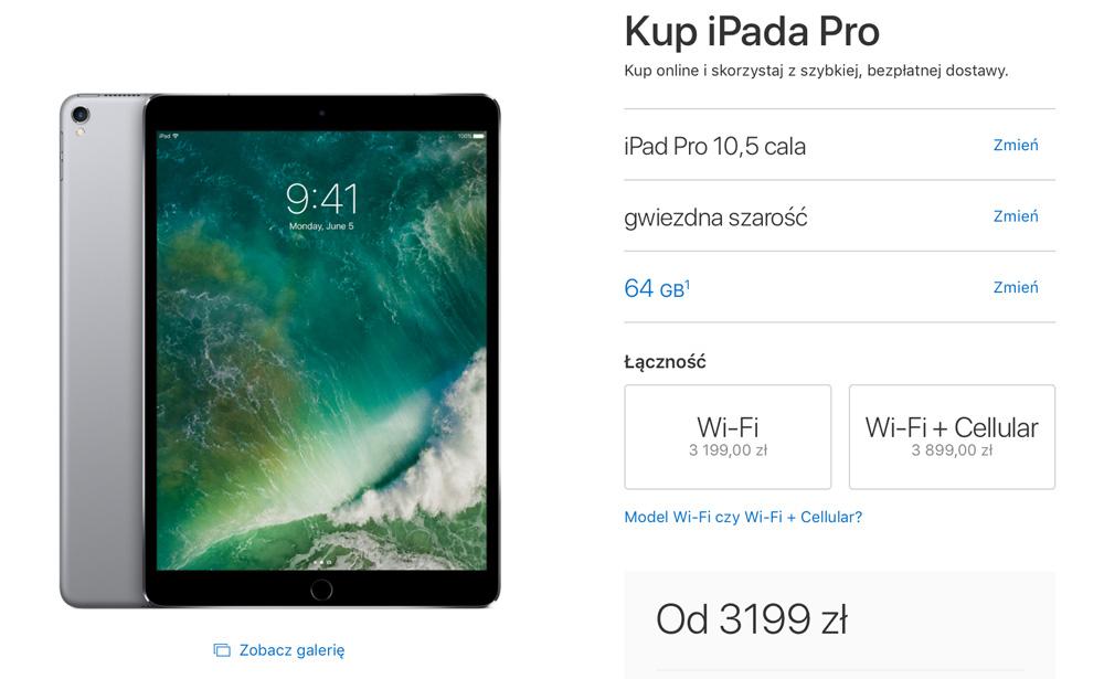 iPad Pro 10,5 cala 64 GB - cena w Polsce
