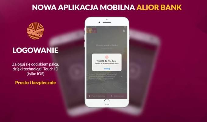 Logowanie odciskiem palca w aplikacji Alior Bank