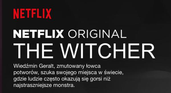 """Polski opis serialu """"Wiedźmin"""" w serwisie Netflix"""