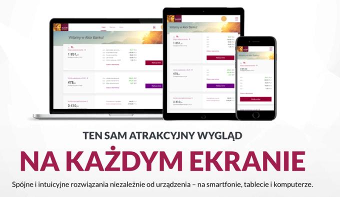 Nowa odsłona bankowości internetowej i mobilnej Alior Banku (RWD)