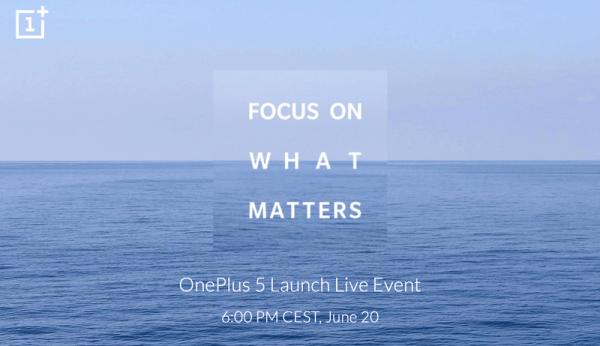 OnePlus 5 już 20 czerwca podczas wydarzenia na żywo