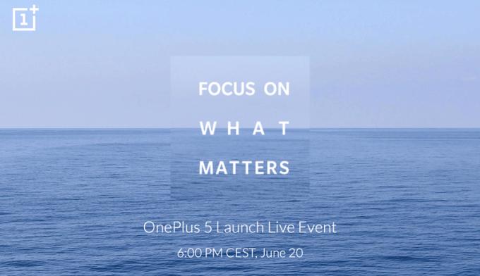 OnePlus 5 - wydarzenie 20 czerwca 2017 r. (online)