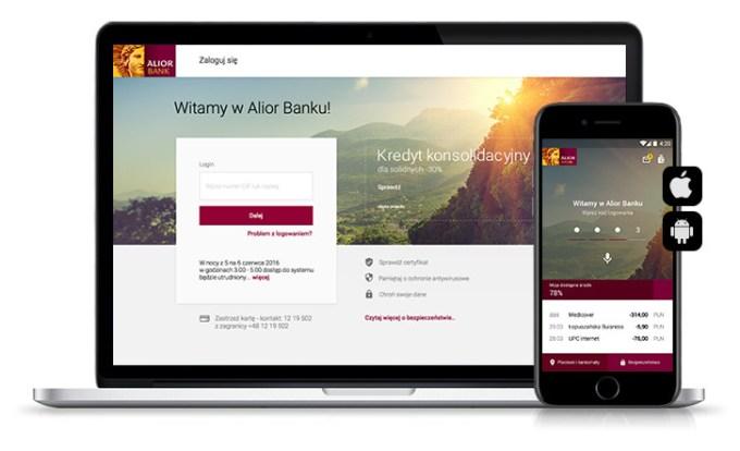 Pierwsza odsłona bankowości internetowej i mobilnej Alior Banku