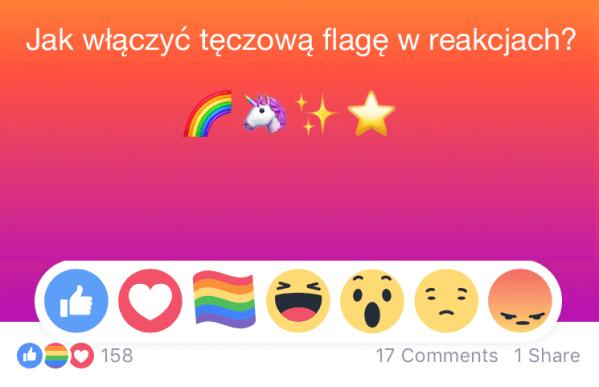 Jak dodać tęczową flagę 🏳️🌈 w reakcjach na Facebooku?