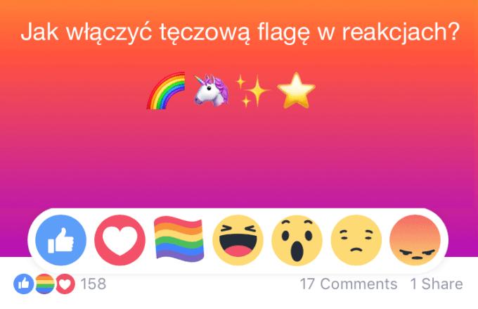 Jak włączyć tęczową flagę w reakcjach na Facebooku? (Miesiąc Dumy (Pride Month) LGBTQ