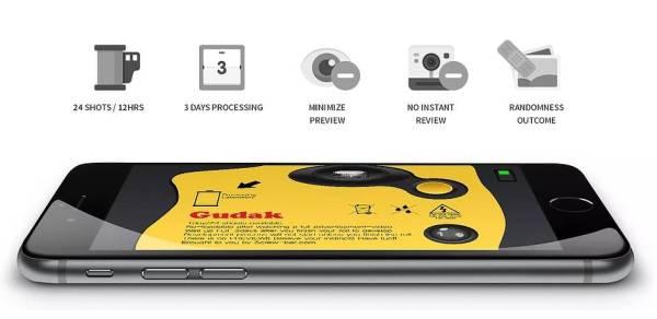 Gudak zmienia iPhone'a w jednorazowy aparat Kodaka