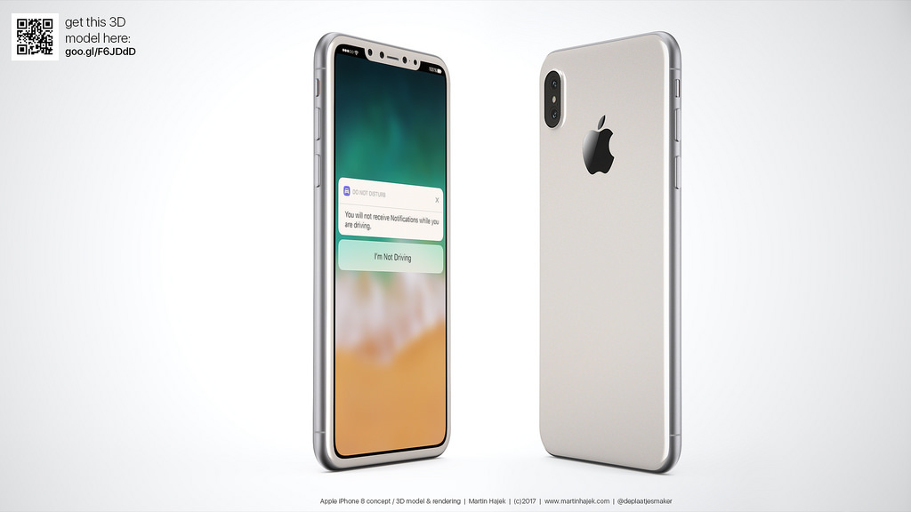 Koncept iPhone 8 (by Martin Hajek)
