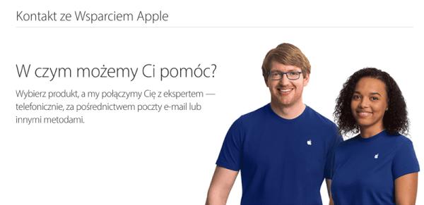 Kontakt z biurem obsługi klienta Apple'a nie ma sobie równych!