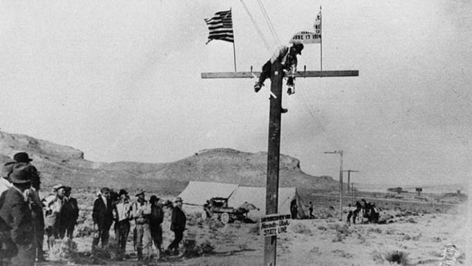 Pierwsza telefoniczna linia między Nowym Jorkiem i San Francisco (1914)