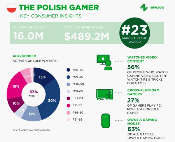Polski rynek graczy – statystyki 2017