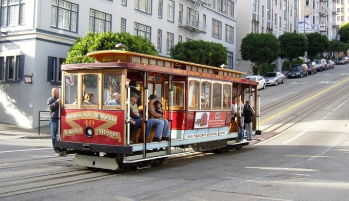 San Francisco Cable Car na California Street