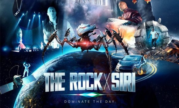 "Niestandardowy spot Apple'a pt. ""The Rock x Siri Dominate the Day"""