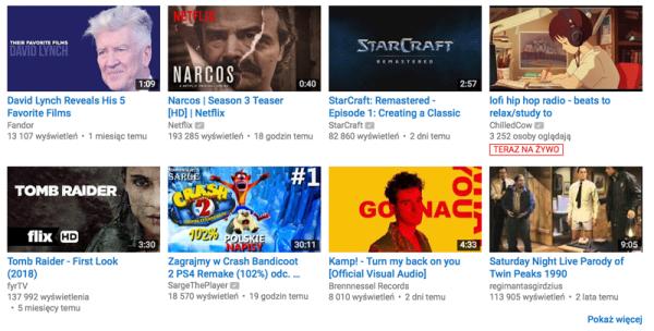 YouTube eksperymentuje z animowanymi podglądami filmów