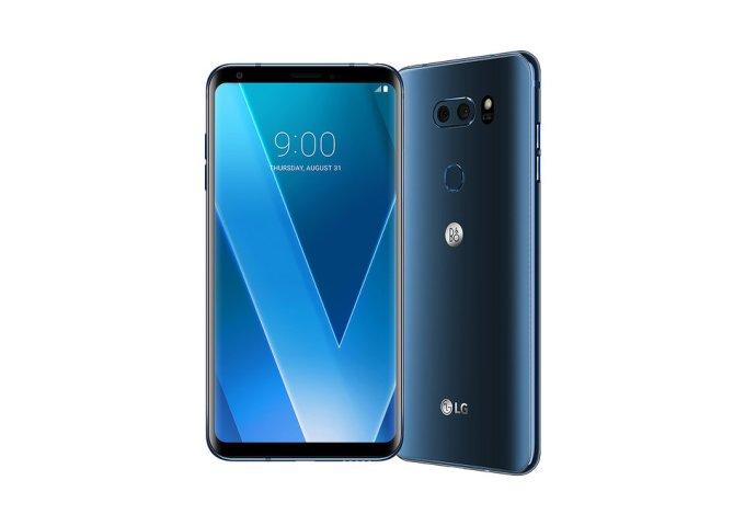 Smartfon LG V30 - z przodu i z tyłu