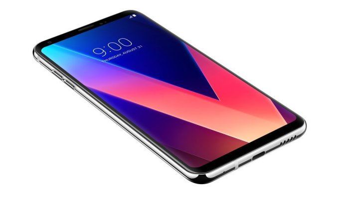 Smartfon LG V30 - z przodu