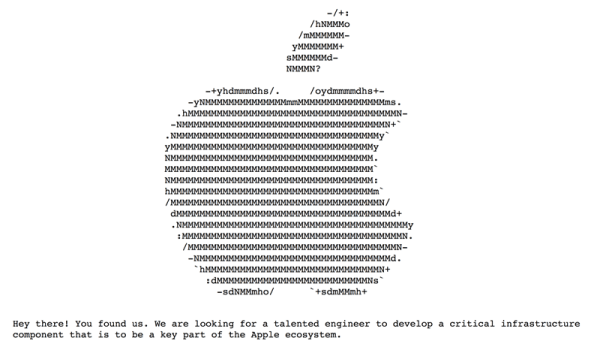 Ukryta rekrutacja Apple'a na specjalistę od chmury