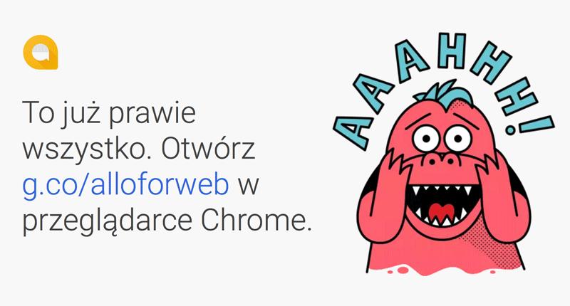Allo na komputer tylko w przeglądarce Chrome!