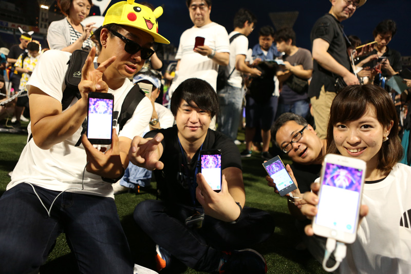 Mewtwo na Go Stadium show w Yokohamie