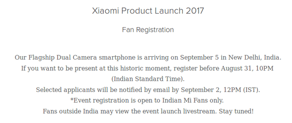 Xiaomi Product Launch 2017 (screen WWW)