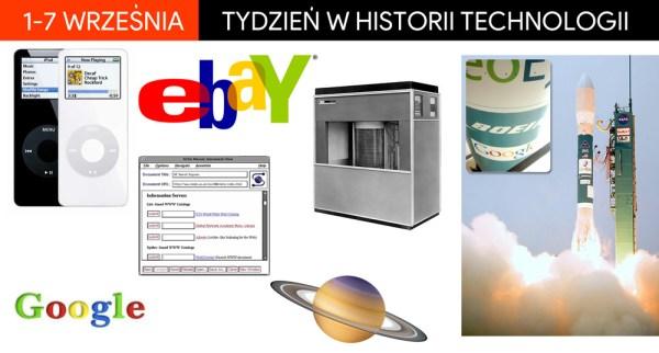 [1-7 września] Tydzień w historii technologii