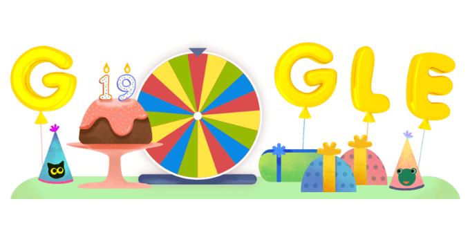19. urodziny Google'a (Google Doodle 27.09.2017)