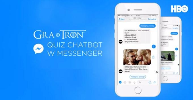 """Quiz """"Gra o tron"""" - chatbot na Messengerze"""