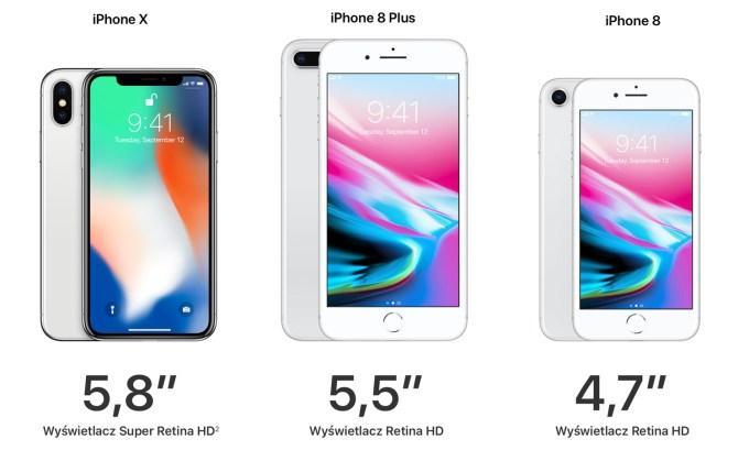 iPhone X, iPhone 8 i iPhone 8 Plus