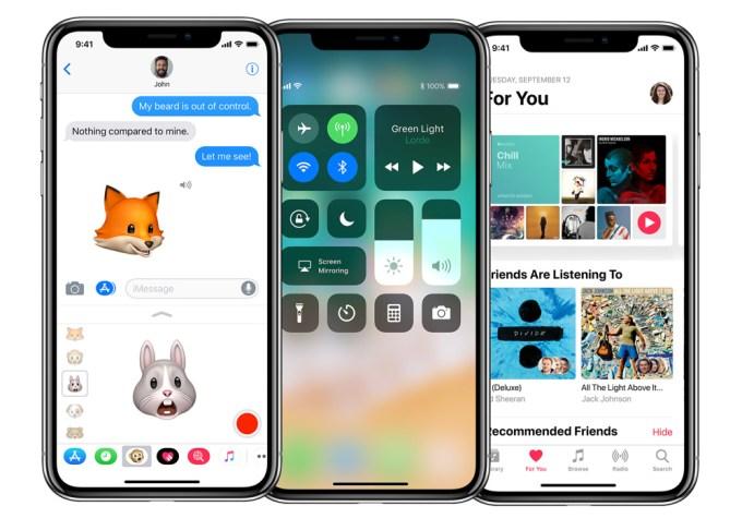 Widok aplikacji na ekranie iPhone'a X z wycięciem