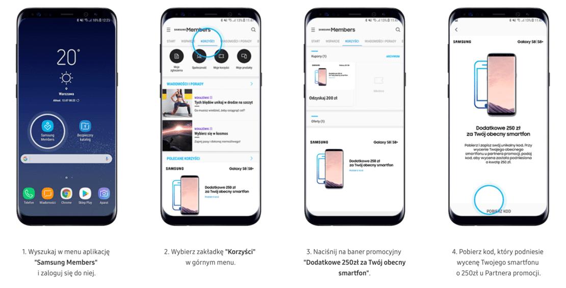 Jak odebrać voucher na 250 zł w aplikacji Members?