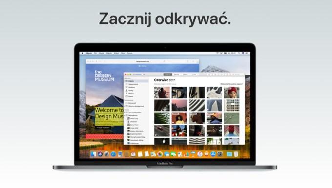macOS High Sierra - Zacznij odkrywać - poznaj nowe funkcje swojego Maca