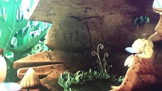 """Niecenzuralny kadr z narysowanym penisem w bajce """"Maya the Bee"""""""