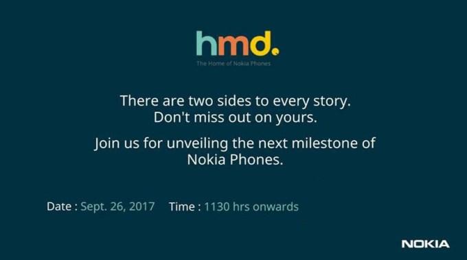 Zaproszenie na premierę smartfona Nokia 8 (26 września 2017)