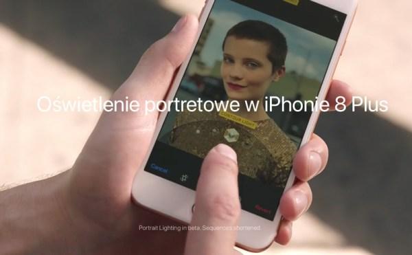 Spot Apple'a promujący oświetlenie portretowe w iPhone'ie 8 Plus