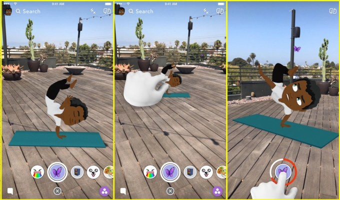 Animowane Bitmoji 3D - Snapchat iOS